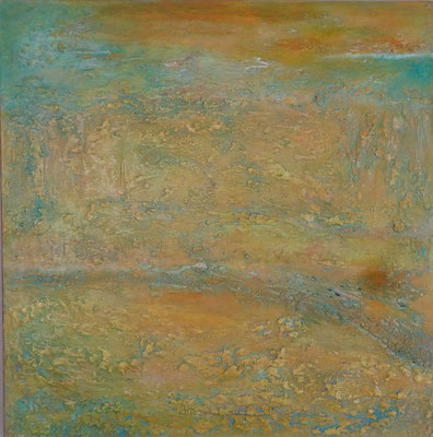 Nr. 309 trockener Sommer, Acryl auf Leinwand, 80 x 80 cm, 170 €
