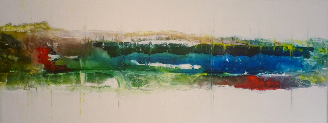 Nr. 252 Kühler Norden, Acryl auf Leinwand, 40 x 100 cm, 110 €
