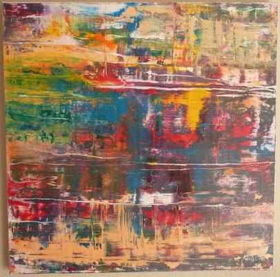 Nr. 306 Fin de Cauchemar, Acryl auf Leinwand, 80 x 80 , 240 €