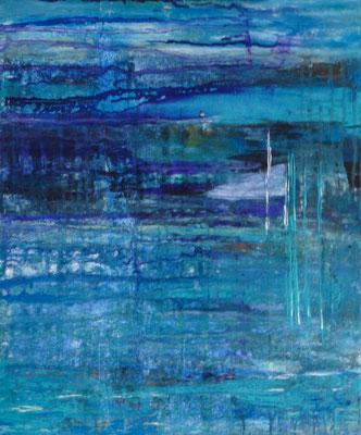 Nr. 285 Meeresfarben, Acryl auf Leinwand, 50 x 60 cm,