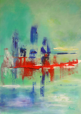 Nr. 174 Landing on the Sea, Acryl auf Leinwand, 50 x 70 cm, 85 €