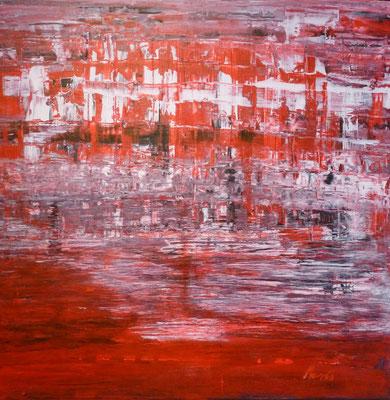 Nr. 226 Schwarz Weiß Rot, Acryl auf Leinwand, 50 x 60 cm, 85 €