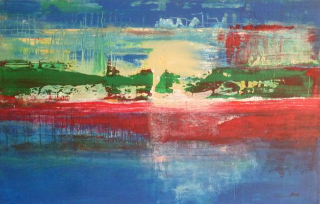 Nr. 273 Geysire, Acryl auf Leinwand, 75 x 116 cm, 260 €