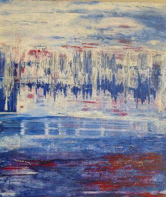 Nr. 217 Herzflimmern, Acryl auf Leinwand, 70 x 60 cm, 145 €