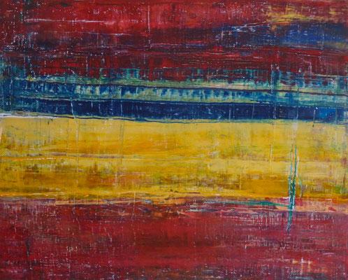 Nr.  264 Vor dem Auslaufen, Acryl auf Leinwand, 80 x 100 cm, 290 €