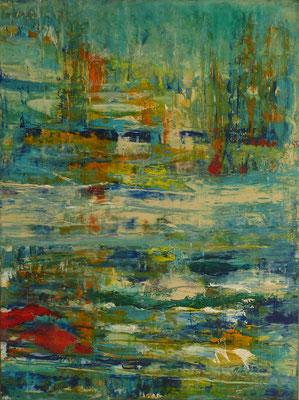 Nr. 310 Wasserlandschaft, Acryl auf Leinwand, 60 x 80 cm, 250 €