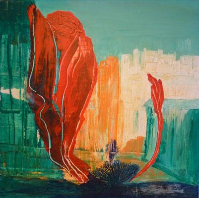 Nr. 222  Mutation, Acryl auf Leinwand, 80 x 80 cm, 165 €