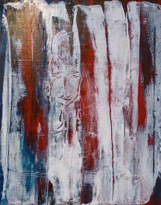 Nr. 225  Eingeklemmt, Acryl auf Leinwand, 50 x 40 cm, 89 €