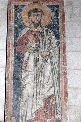 Frühmittelalterliches Heiligenfresko im Battistero di San Giovanni