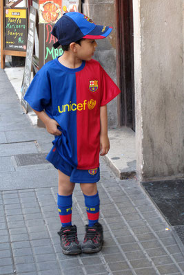 Ein kleiner Barca-Fan