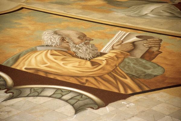 Kunstwerk aus vulkanischem Sand (zu Ostern in La Orotava)