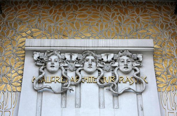 Fassadenschmuck am Secessionsgebäude