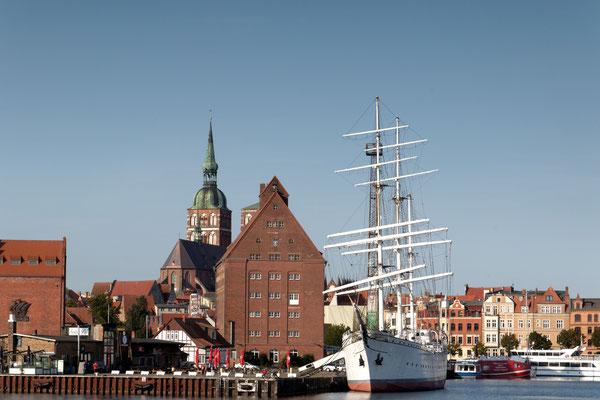 Hafenansicht von Stralsund