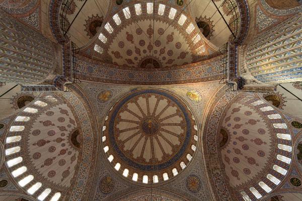 Kuppeln der Blauen Moschee Istanbul