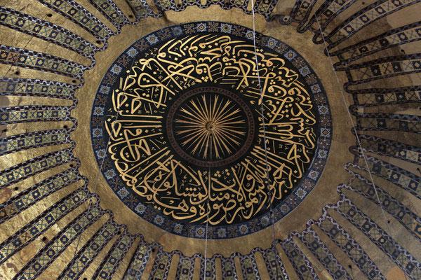 Goldmosaik in der Kuppel der Hagia Sophia