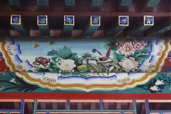 Detail des Wandelgangs im Sun-Yat-sen-Park
