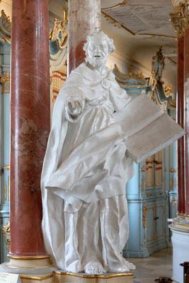 Statue in der Klosterbibliothek von Bad Schussenried