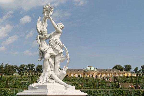 Blick auf Schloss Sanssouci