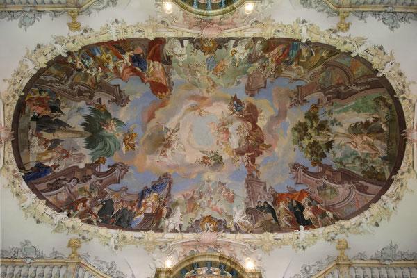 Deckengemälde der Klosterbibliothek Wiblingen