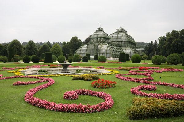 Palmenhaus im Park von Schloss Schönbrunn
