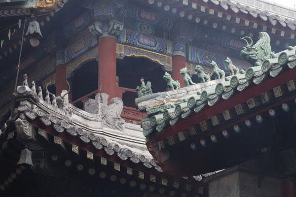 Lamatempel, kunstvolle Dachverzierungen