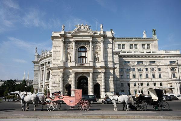 Seitenansicht des Burgtheaters