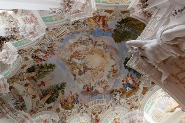 Deckengemälde der Wallfahrtskirche Steinhausen