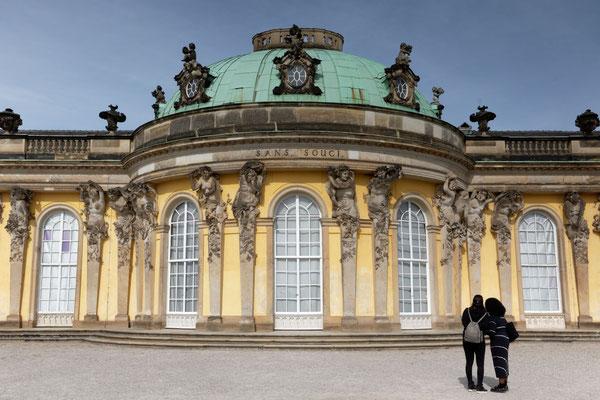 Fassade von Schloss Sanssouci