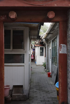 Blick ins Innere eines Hutong-Anwesens