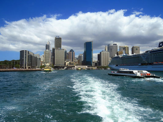 on the ferry in Sydney harbour