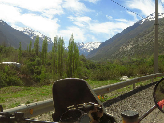 erster Blick auf die Anden  - first views of the Andes
