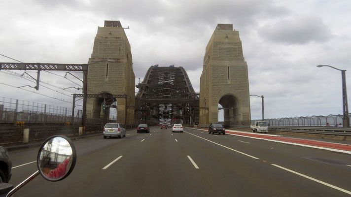 Crossing the harbour bridge