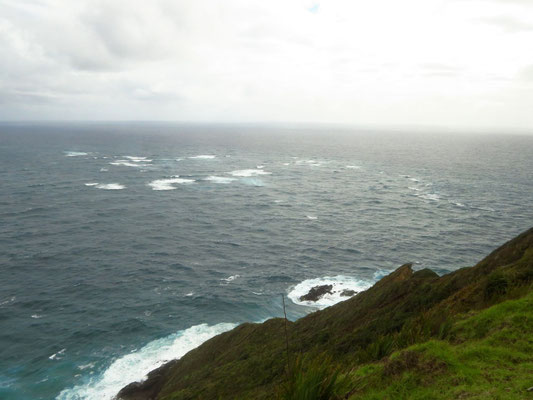you can see where the Tasman sea and the Pacific meet