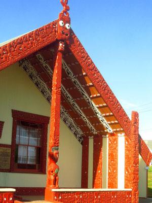 Maori meeting house  -  Maori Versammlungshaus