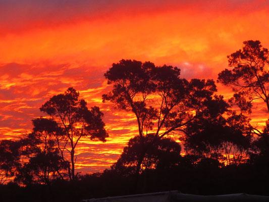 Sonnenuntergang im Cherry Gully