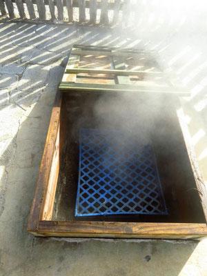 natural steam oven, very handy  -  natürlicher Dampfofen, sehr praktisch