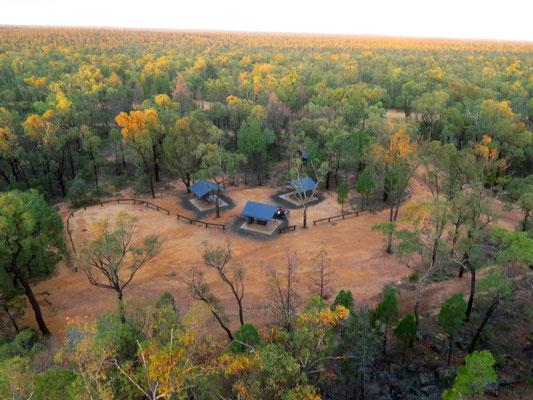 und finden einen wunderschönen Campingplatz für uns allein