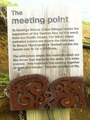 Hier treffen sich zwei Ozeane, die Tasmansee und der Pazifik