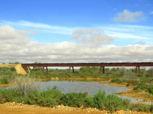 die alte Ghan Bahnlinie - remains of the old Ghan line