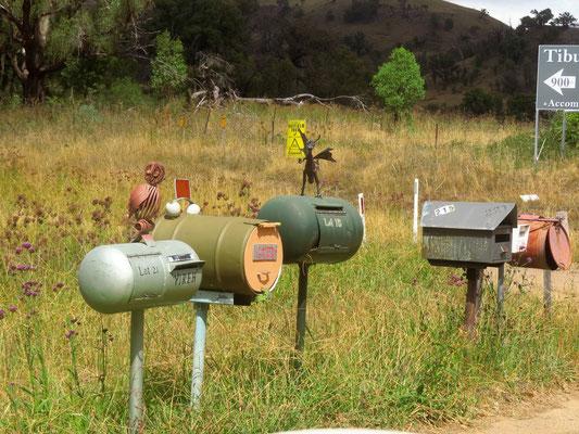 wir mögen australische Briefkästen
