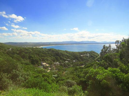 erste Aussicht auf Byron Bay  -  first view of Byron Bay