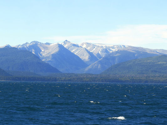 letzter Blick auf den See bei Bariloche  -  last view of the lake at Bariloche