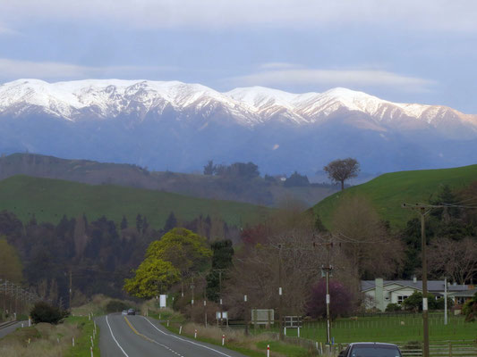 From Taupo we went down through the middle of the north island with quite some more very beautiful scenerie