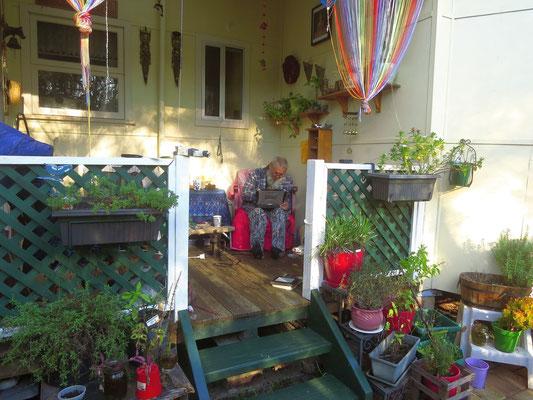 ausruhen auf Karins Veranda - resting on Karin's veranda