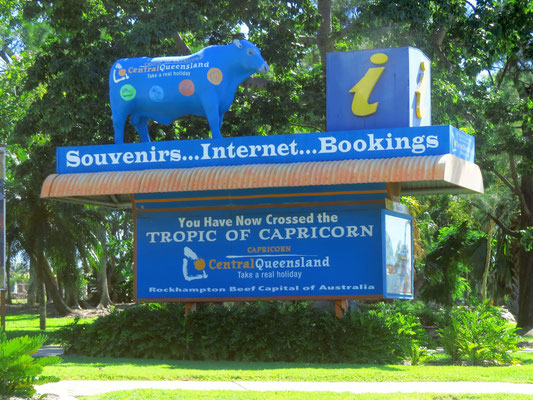 mal wieder am Wendekreis des Steinbocks  -  crossing the tropic of capricorn again