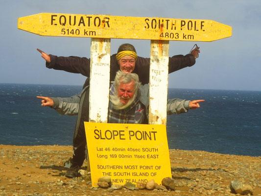 am südlichsten Punkt  - the most southerly point