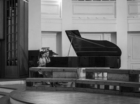фортепианный дуэт Горобец и Звонцева - лауреаты 1 степени.