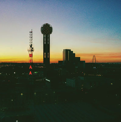 Blick aus dem Omni Hotel Dallas