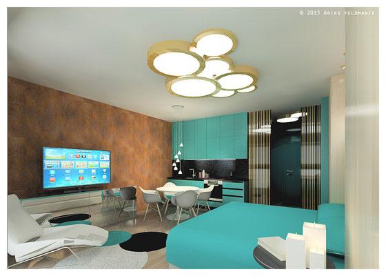 Studio salnas st 21 eriks feldmanis portfolio for Design apartment riga