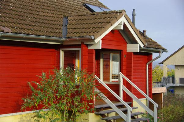 HoWeCa - Der neue Eingansgereich des Holzhauses in frischer Optik